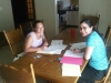 Betania Beckett estudiando con Eleonor Mosquera